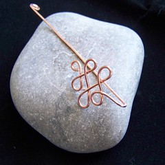 Copper wire twist bookmark 3