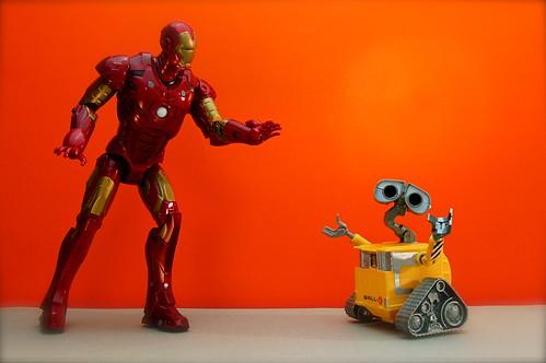 Iron Man vs. WALL-E (110/365)