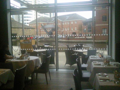 View from Leeds @cityinnhotels restaurant over canal basin #leedstrip