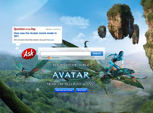 Ask.com Avatar on Earth Day