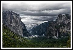 Yosemite Inspiration Point HDR (kdinuraj) Tags: california travel usa nature rain clouds canon nationalpark rainyday cloudy rainy yosemite yosemitenationalpark 2009 hdr cloudyday singleexposurehdr 400d canon400d qtpfsgui singleshothdr hdrworkflow