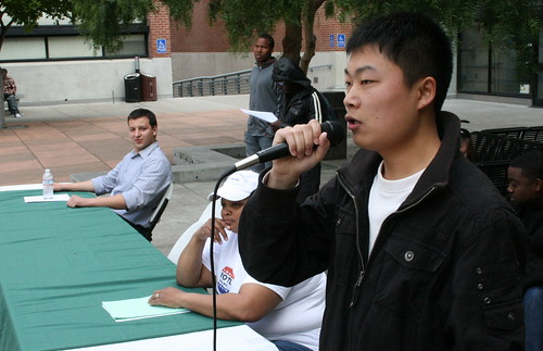 ASLC presidential candidate Harry Jiang