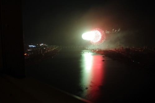 Fireworks for Kim Il Sung's Birthday, Pyongyang.