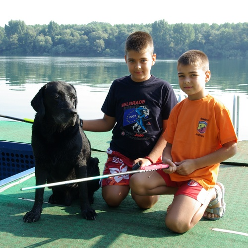 with my nephews, Sava river