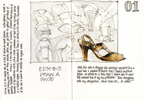 100501 EDM in EDiM 01 Draw a Shoe