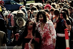 Melbourne Zombie Shuffle 2010 (pixelwhip) Tags: copyright canon march photo blood photographer zombie mark rally australia melbourne event brains gore horror undead bloody shuffle guts 2010 brainz burban pixelwhip