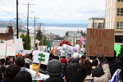 Seattle May Day 2010 | Nadie es ilegal. NAFTA refugees are not criminals.