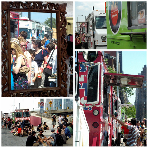 Food Trucks at Hells Kitchen flea market