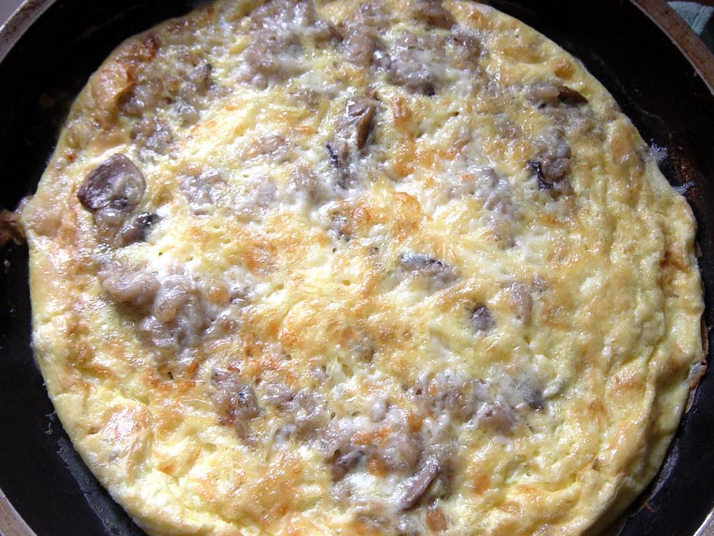 Mushroom Risotto Frittata