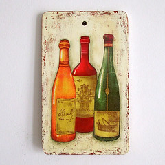 "Cutting board ""Bottles"""