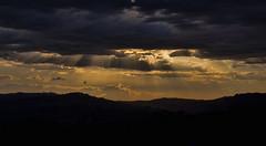 i saw the light (2) (Enrico Matteucci ☸) Tags: light sky silhouette clouds landscape nuvole nuvola cielo luce marche controluce rayoflight raggiodiluce clud