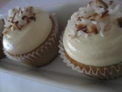 Tres Leche Coconut with Dulce de Leche Buttercream (ThreeSistersCupcakes) Tags: coconut vanilla dulcedeleche buttercream tresleche