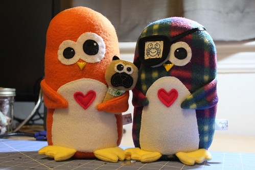 custom Panguin plush for Meaghan and Emily