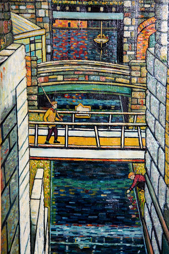 Legendary welsh artist has an exhibition of some of his Cardiff docks paintings at the Senedd Building (the National Assembly for Wales)</p> <p>He's going to feature heavily at the BigLittleCity project next year.</p> <p>Here's a link to a biography :<br /> <a href=