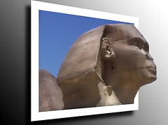 Sphinx (lucy___haydon) Tags: blue sky white sphinx photoshop fuji egypt frame gradient outofbounds oob f40fd fujif40