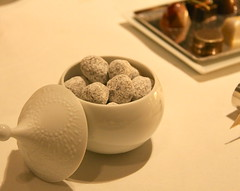 French Laundry - toasted chocolate macadamia nuts (mignardises)