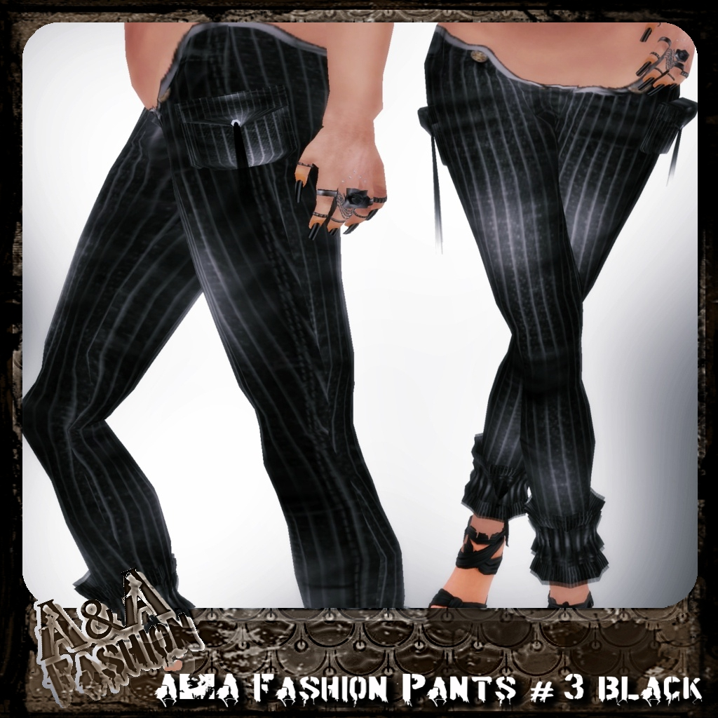 A&A Fashion Pants #3 Black
