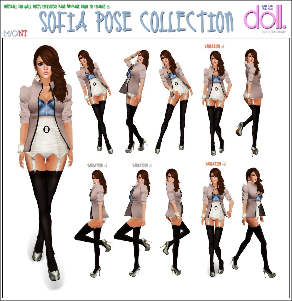 [doll.]™ Sofia Pose Collection