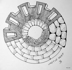 Castle Keep (Jo in NZ) Tags: drawing doodle zentangle nzjo zendoodle