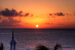 Caribbean Sunrise (DolliaSH) Tags: ocean travel light sunset sea vacation sky orange sun holiday seascape color tourism sol beach gulfofmexico water colors clouds sunrise canon landscape mexico atardecer photography lights soleil photo zonsondergang sand warm tramonto foto tour sonnenuntergang gulf place photos paisaje visit location tourist journey mexique destination cancun caribbean traveling sole visiting sonne 70200 touring coucherdesoleil mexiko caribe messico puestadelsol zakat meksiko meksyk canoneos50d mexik canonef70200mmf4lisusm solntse riupalacelasamericas dollia dollias sheombar thepowerofnow dolliash