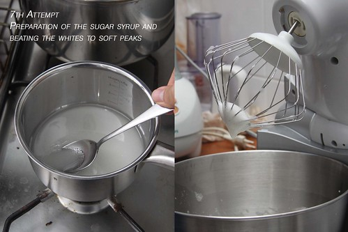 Preparing Italian meringue