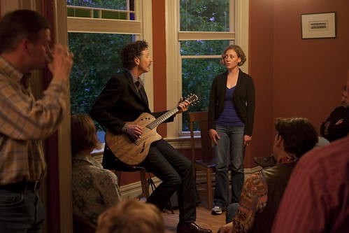 Walter Parks plays a house concert
