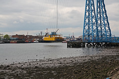 Tees Transporter Bridge (Tudor Barlow) Tags: teestransporterbridge middlesborough stocktonontees spring tamron1750 portclarence countydurham england bridges transporterbridge rivers rivertees