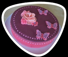 Traum in Rosa- Torte (Tortenwahn) Tags: rose rosa marzipan schmetterling fondant gebck traum ss buttercreme motivtorte mottotorte mottotorten