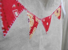 red (Haley By Hand) Tags: summer kids happy whimsy fresh clothes celebration organic pinafore smock hemp bunting