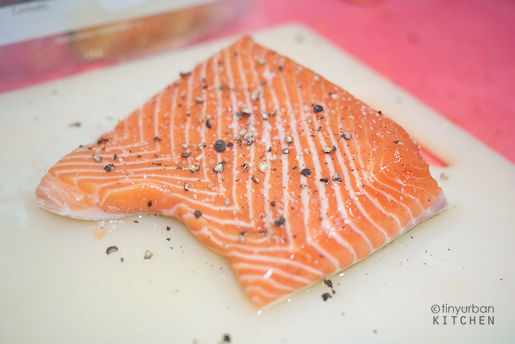 Salmon Salt Pepper Olive Oil