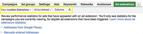 Manage Ad Extensions - Google AdWords