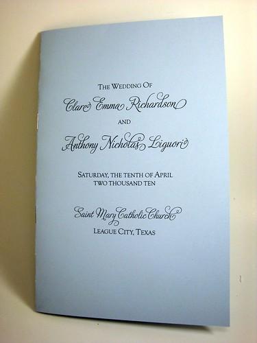 catholic wedding mass booklet pdf