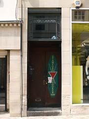 Deco Stamford High Street 01 (FrMark) Tags: street door uk england building art shop retail architecture century shopping britain entrance moderne lincolnshire gb british artdeco stamford rutland c20 newlook deco highstreet 20th twentieth archtiecture lincs