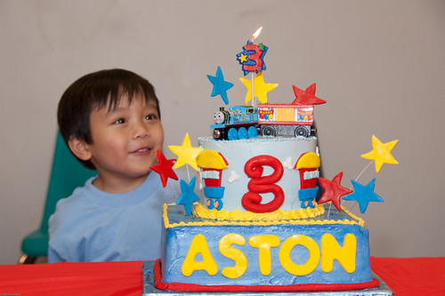 aston and thomas birthday cake