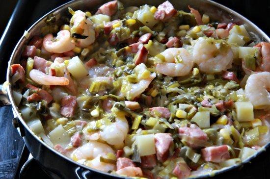 Shrimp & Andouille Pot Pie