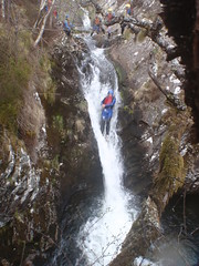 canyoning jumps and slides into deep pools, waterfalls and more...