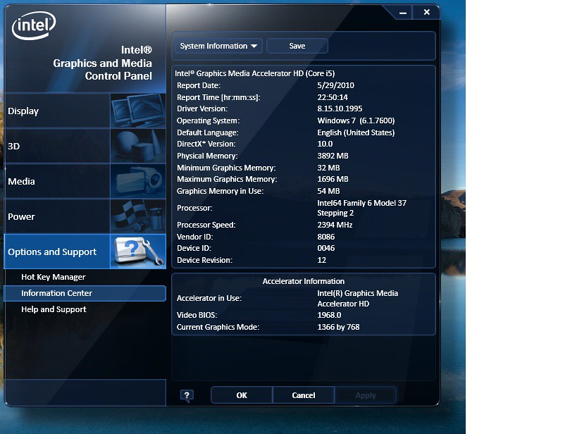 Intel HD Graphics Can Use 17Gb Of Memory