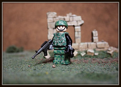 Battle Ruins (Geoshift) Tags: lego military specialforces callofduty customlego brickarms modernwarfare legomilitary legocustomminifig