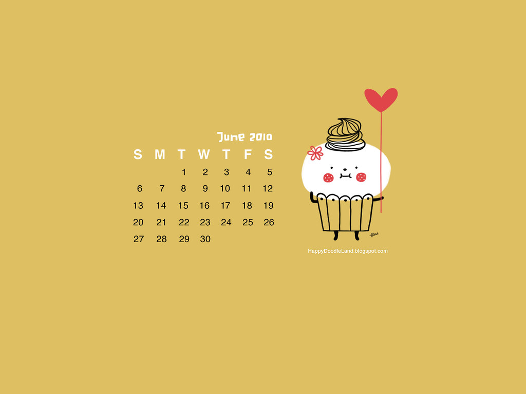 Free June Desktop Calendar Wallpaper 1600x1200