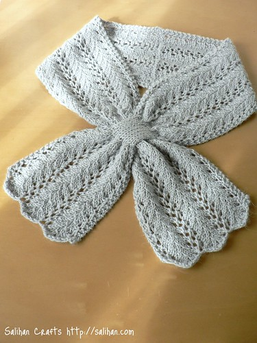 Knitted Keyhole Scarf Pattern : Beautiful Grey Salihan Crafts Blog
