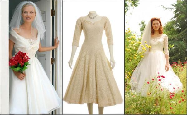 Retro-style wedding dresses for the \'Mad Men\'-loving bride | All The ...