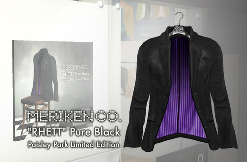 """RHETT"" limited color -PureBlack-"