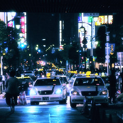TOKYO NIGHT (ajpscs) Tags: street nightphotography summer people japan night japanese tokyo nikon taxi streetphotography  nippon   happyhour shinbashi   d300  tokyonight    ajpscs
