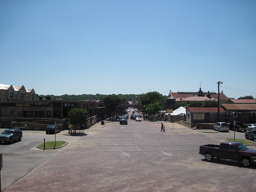 View from Packing House Plaza looking into the Stockyards in Ft. Worth by fables98