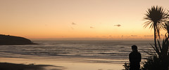 West into The Tasman (Catching Magic) Tags: ocean sunset newzealand beach nikon tiraudan raglan tasmansea