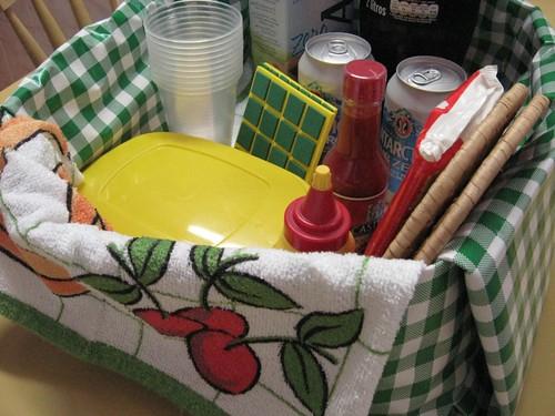 cesta que vira toalha de mesa 7669