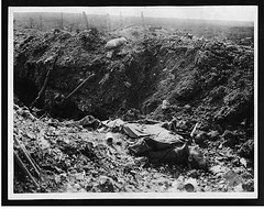 German dead in a captured trench