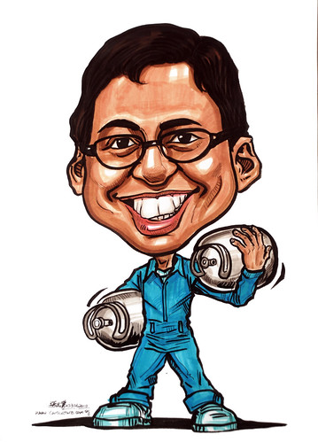 Caricatures for NUS - gas cylinder