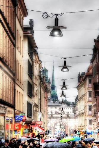 Stockholm. Drottninggatan. Estocolmo