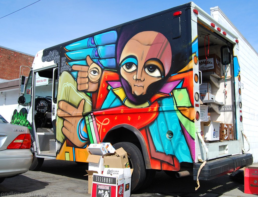 Ras Terms Truck Graffiti in Oakland California.